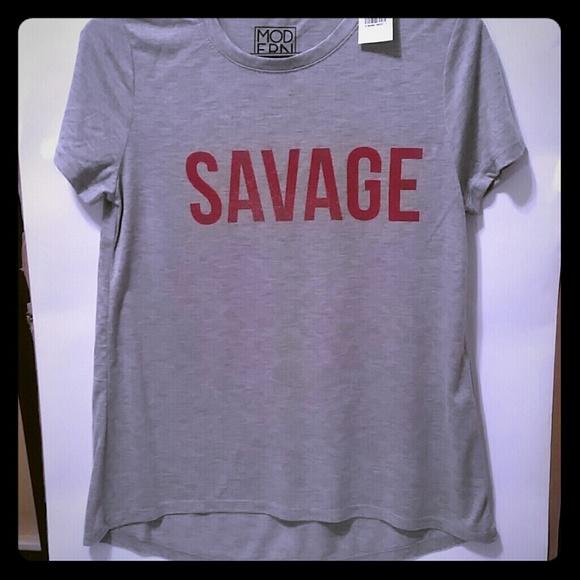 833f4a9c35bd Modern Lux Tops   Savage Tshirt Size Medium   Poshmark